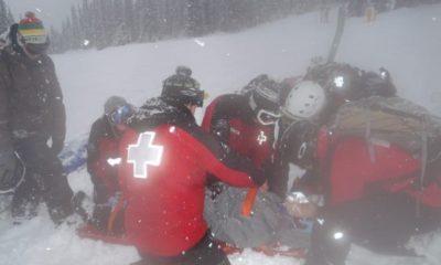 Adela Snowboarding Broken Collarbone