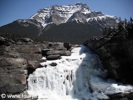 Frozen Athabasca Falls, Jasper, Alberta