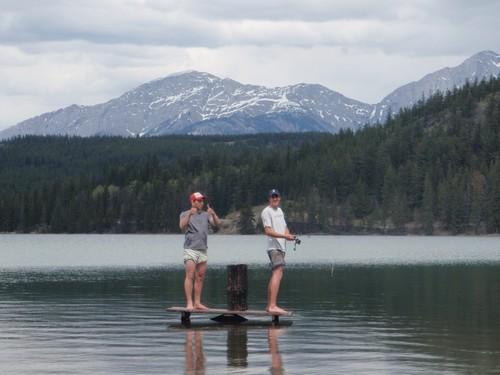 Visiting Jasper National Park,Fishing in Pyramid Lake Jasper