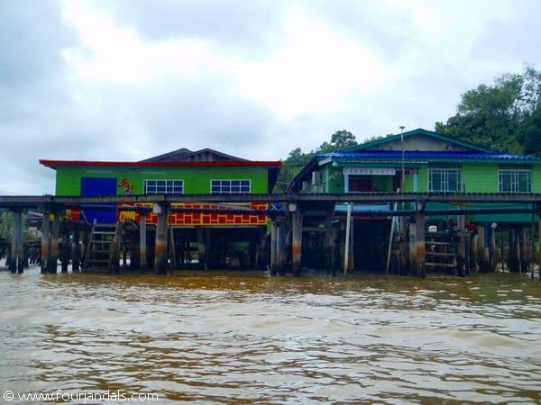 Homes in Kampong Ayer Water Village