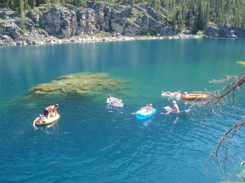 Visiting Jasper National Park, Swimming and Cliff Diving Horseshoe Lake