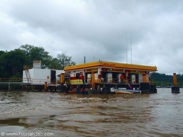 Shell Petrol Station Kampong Ayer Water Village