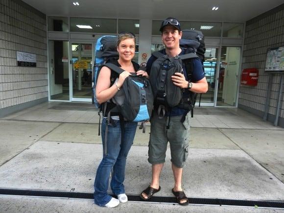 Duane and Kim at Airport