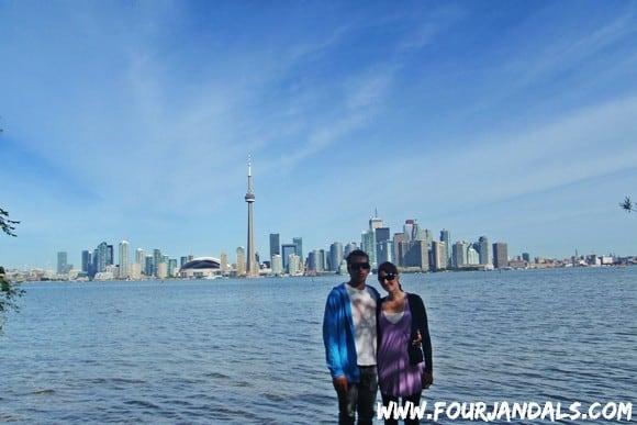 Toronto Skyline Four Jandals