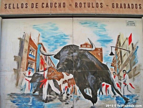 Running with the Bulls Pamplona