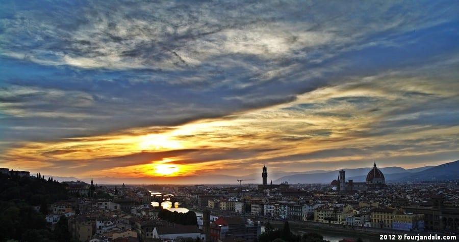 Florence sunset photos