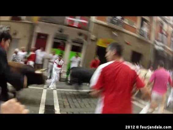 San Fermin Running with the Bulls still