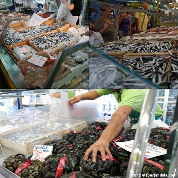 Seafood La Spezia market