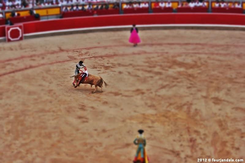 Bullfighting in Pamplona