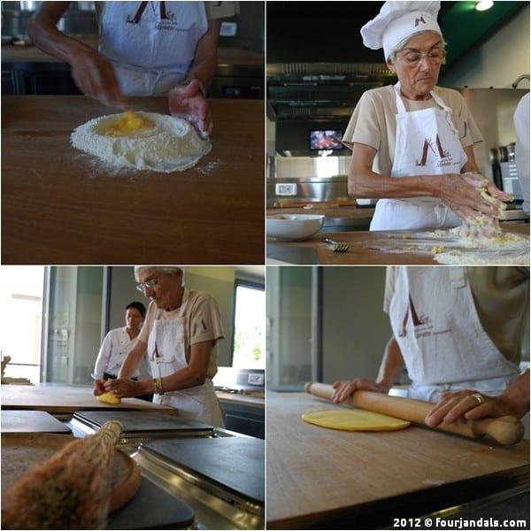 Pasta cooking at Casa Artusi, Emilia Romagna, Blogville
