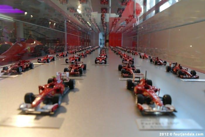 Formula One cars Ferrari museum