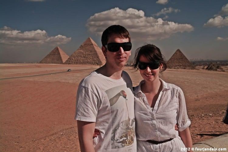 Four Jandals Egypt Pyramids