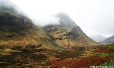 Scenic drive in Scotland Glencoe