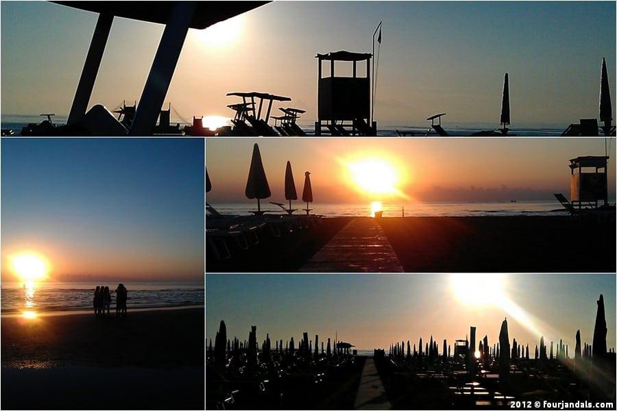 La Notte Rosa sunrise in Rimini