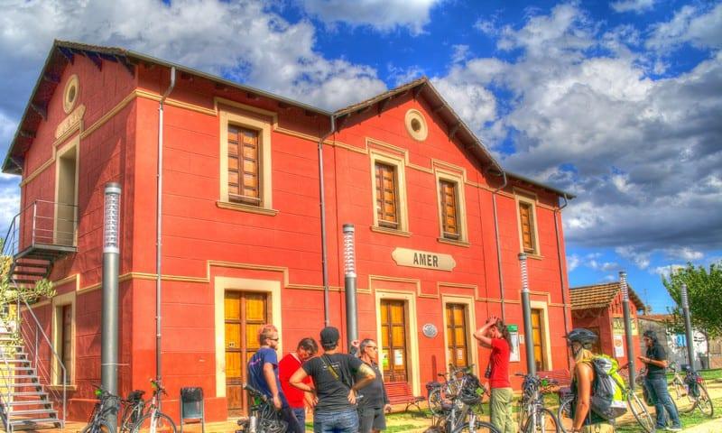 Rail Trail Train Station Costa Brava