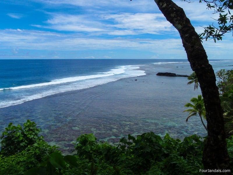 Surfing in Samoa
