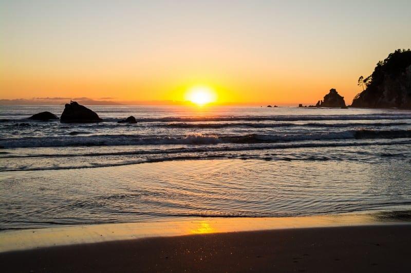 Whangamata Beach, Coromandel Peninsula, New Zealand, Sunrise