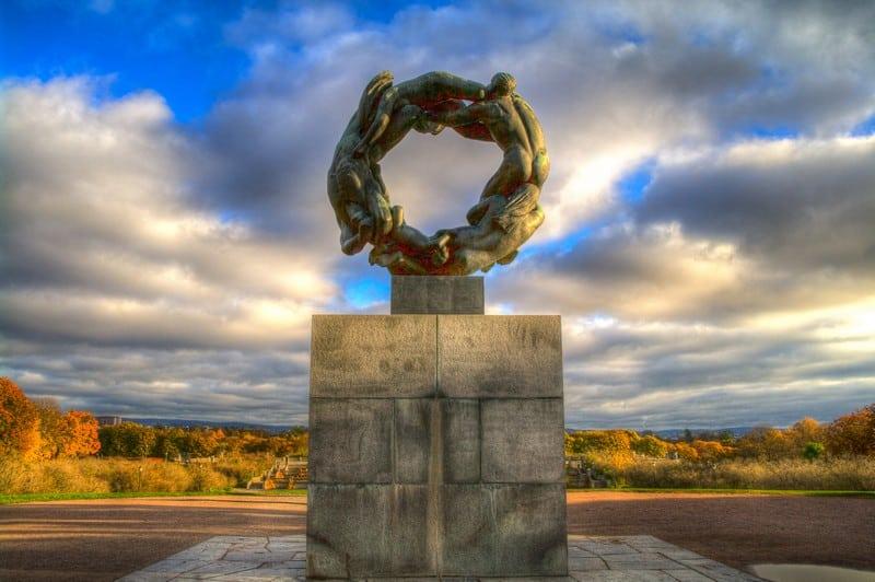 Vigeland Park Oslo Statues Autumn