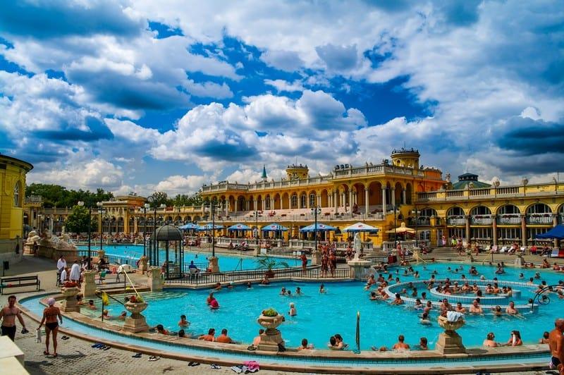 Széchenyi Baths Budapest, travel adventures