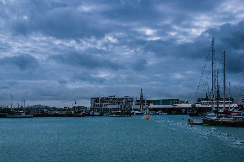 Auckland Harbour Swim Finish Line