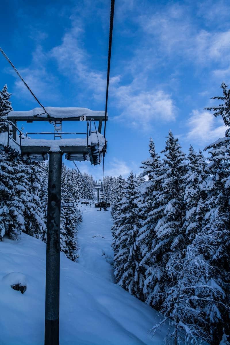 Ecudets Chairlift, La Rosiere Ski Area