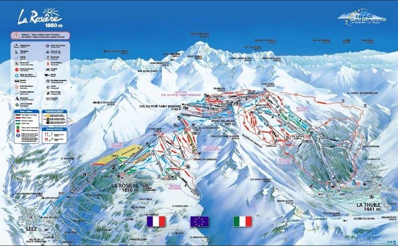 La Rosiere Ski Resort Piste Map