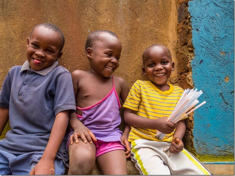Laughing children in Bwaise Slum