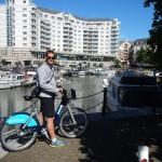 Exploring London's River Thames on Barclays bikes (Boris Bikes)