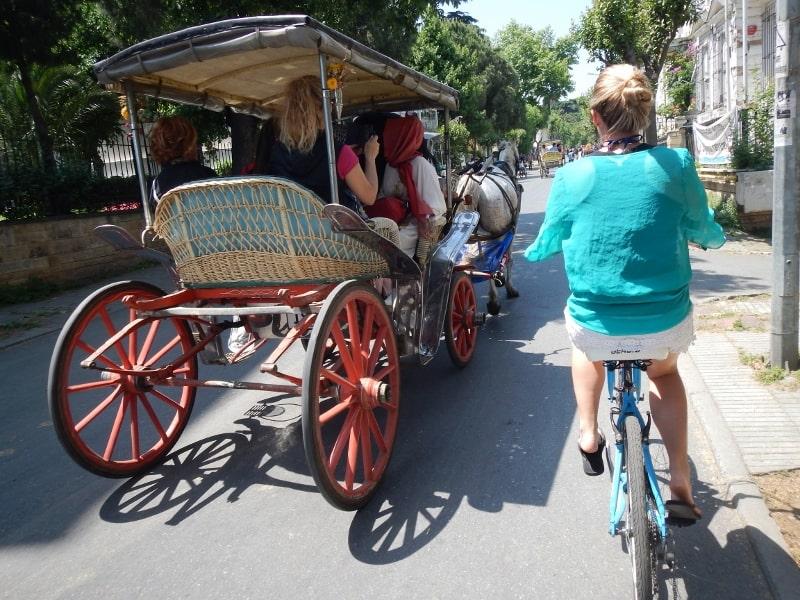 Horse drawn carts Büyükada Island