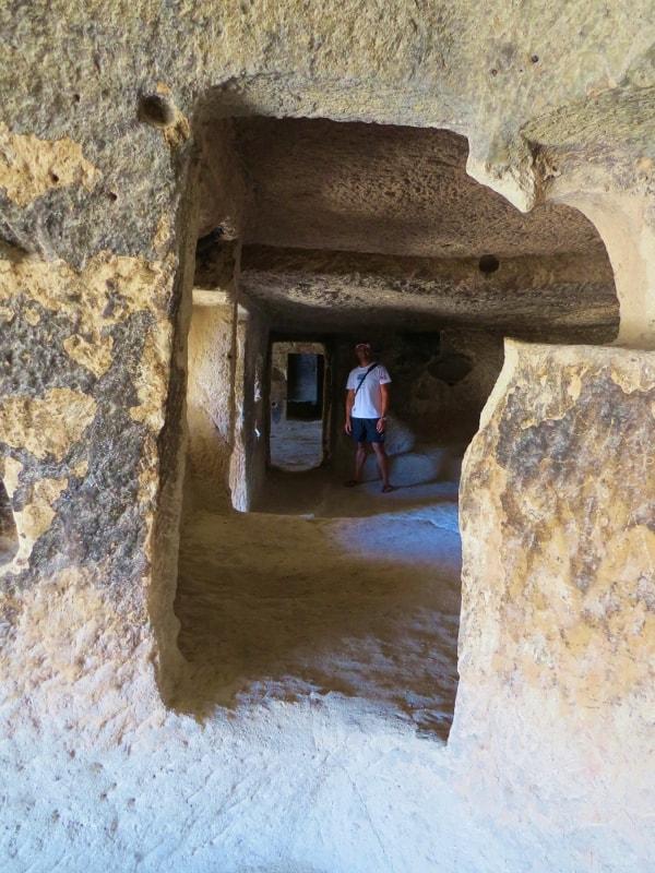 Inside Cavusin Castle