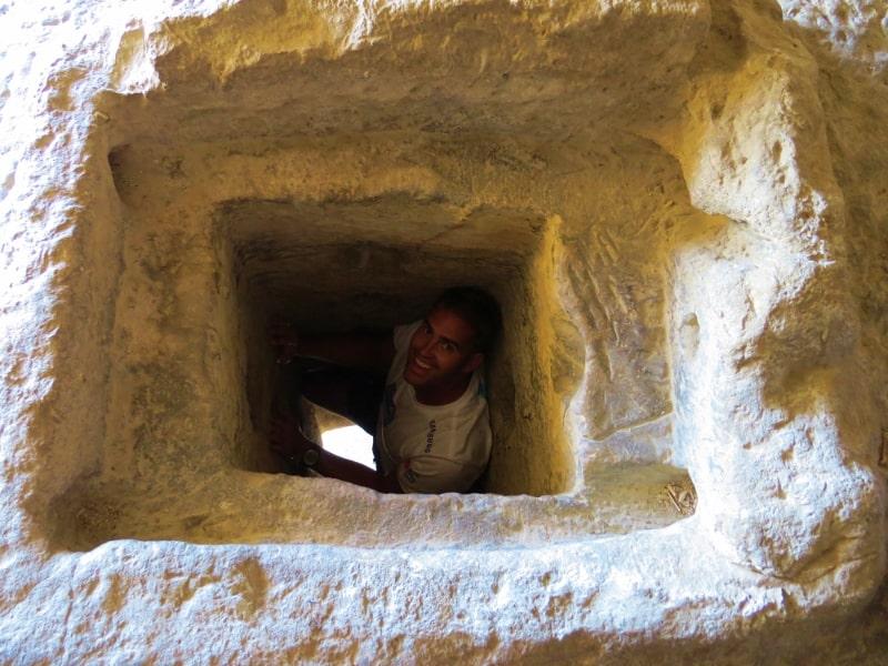 Tunnel Cavusin Castle Cappadocia