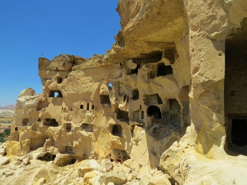 View of Cavusin Castle Cappadocia
