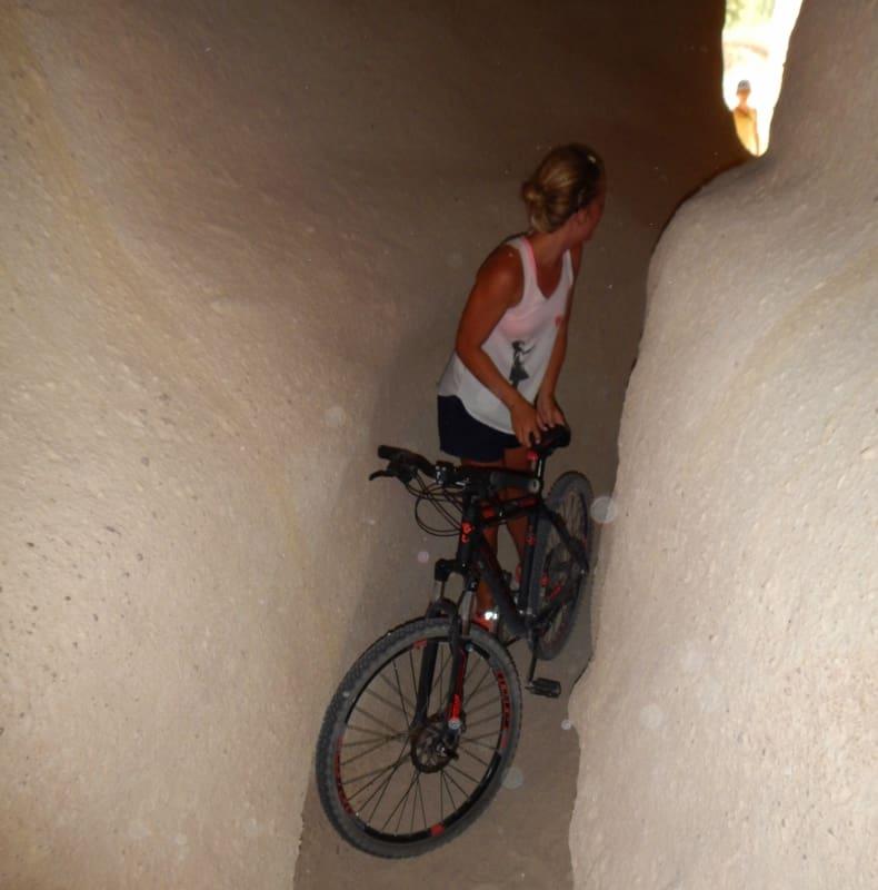 Bike in Cappadocia Cave