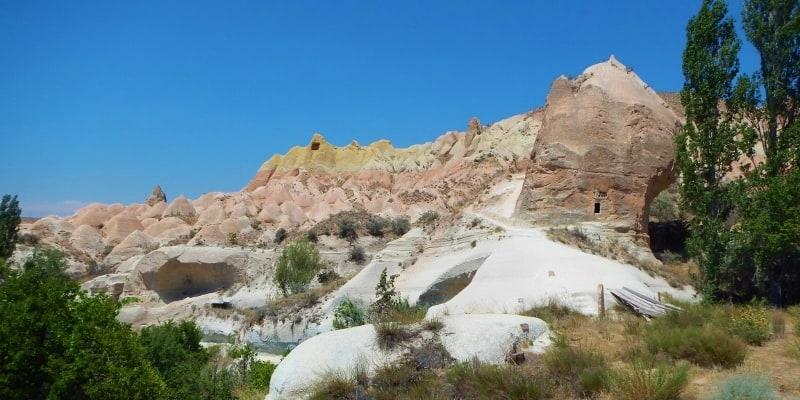 Coloured chimneys in Cappadocia