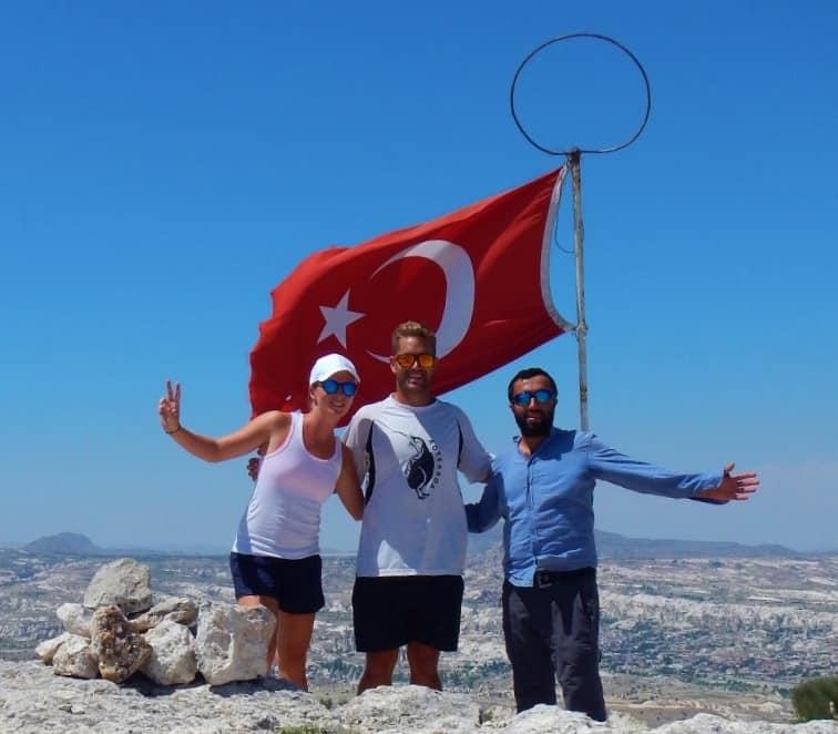 Flag at top of Cappadocia
