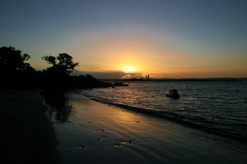 Sunset from Rangitoto Island