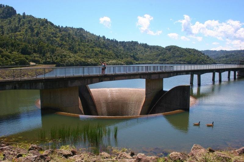 Lower Nihotupu Reservoir in the Waitakere Ranges