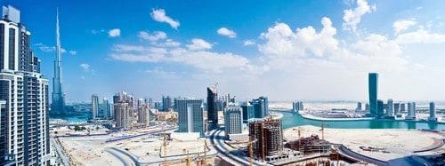 Panoramic image of Dubai city