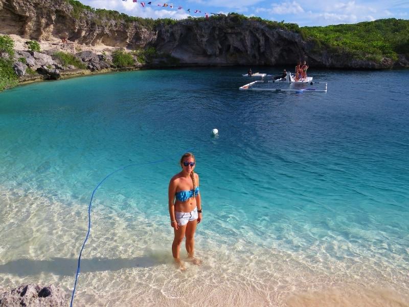 Long Island Bahamas edge of blue hole