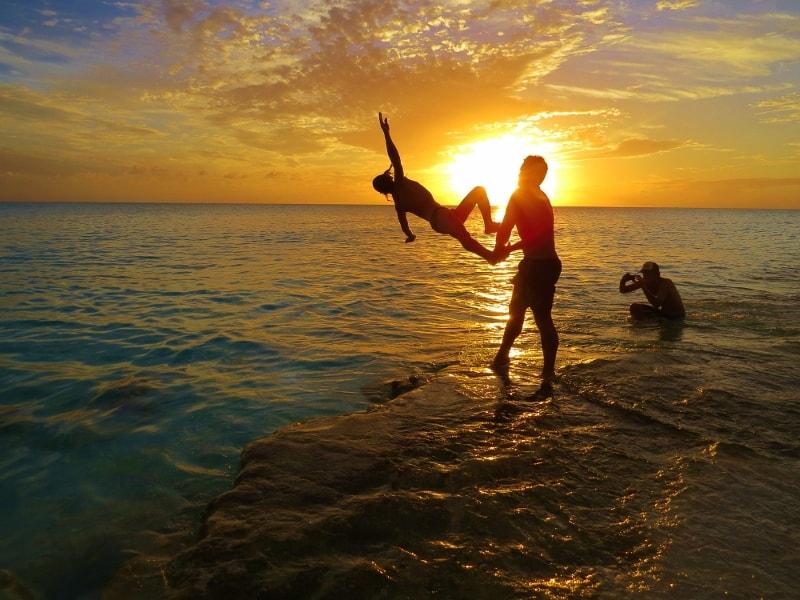 Long Island Bahamas sunset