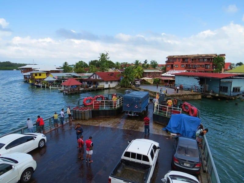 Car ferry arriving at Bocas del Toro