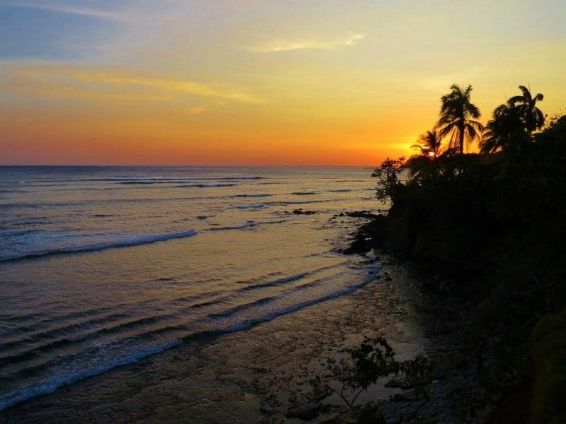 Sunset while watching the surfers at Santa Catalina