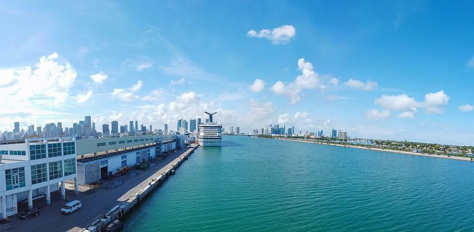 Miami, Cruise, Port, Florida, Ship, Skyline, Travel