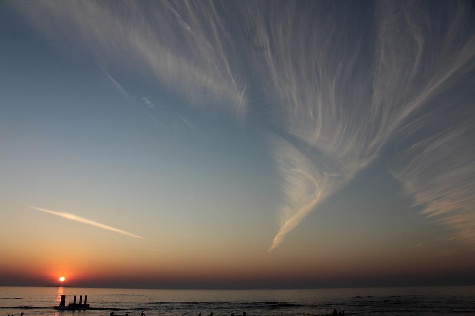 Sunset, Water, Sky, Sun, Dawn, Sea, Evening, Ocean
